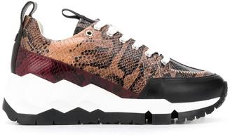 Pierre Hardy Snake Print Sneakers