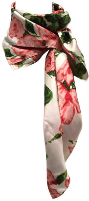 Barbour White Silk Scarves