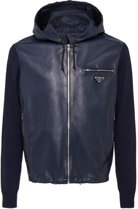 Prada Hooded Bi-Material Jacket