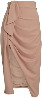 Katie May Mamma Mia Ruched Crepe Skirt