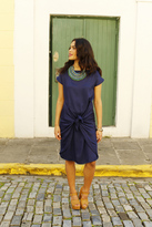 Shabby Apple Karina Sheath Dress Navy