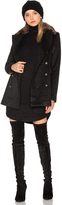Capulet Emmy Double Breasted Coat with Faux Fur Collar