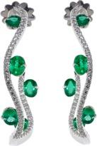INBAR Emerald Gypsy Hoop Earrings