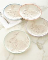 Juliska Easter Bunny Party Plates, Set of Four