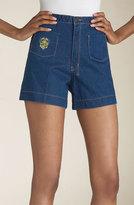 'Davis' High Waist Stretch Denim Shorts