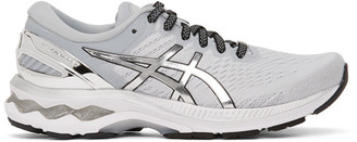 Asics Grey and Silver GEL-Kayano 27 Sneakers
