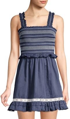 Kisuii Lexia Smocked Cover-Up Dress