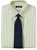 Lands' End Men's Traditional Fit Lightweight No Iron Oxford Dress Shirt-Blue/White Check