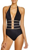 Gottex Crystal Cutout One Piece Swimsuit