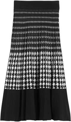 Banana Republic Houndstooth Pleated Knit Midi Skirt