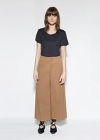 Marni Cotton & Wool Blend Wide Leg Trouser