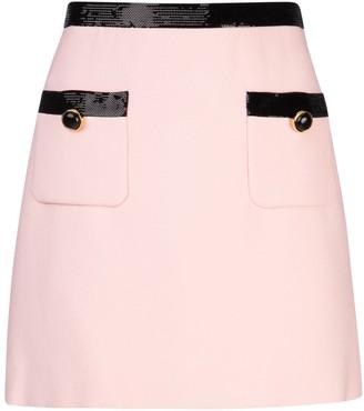 Miu Miu Sequinned Straight Skirt