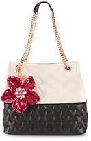 Betsey Johnson Be My Better Half Heart-Quilted North/South Tote
