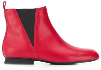 Camper Square Toe Ankle Boots