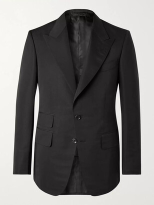 Tom Ford Shelton Cotton and Silk-Blend Suit Jacket - Men - Black