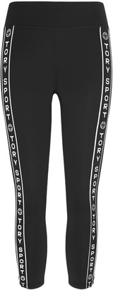 Tory Burch Banner Cropped Leggings
