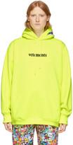 Vetements Yellow Logo Hoodie