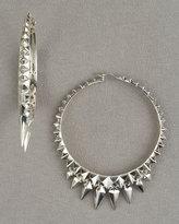 Dagger Fringe Hoop Earrings