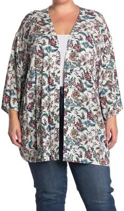 Dr2 By Daniel Rainn Paisley Printed Kimono (Plus Size)