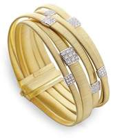 Marco Bicego Masai 18K Gold Five-Row Bracelet with Diamonds