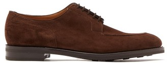 John Lobb Harlyn Suede Derby Shoes - Dark Brown