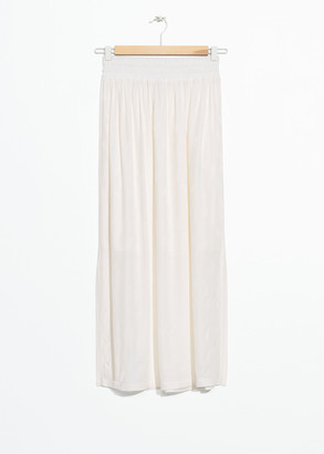 And other stories Elasticated Jacquard Midi Skirt
