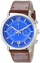 Marc by Marc Jacobs Men's MBM5066 Fergus Stainless Steel Watch with Brown Leather Band