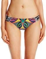 Trina Turk Women's Africana Shirred Side Hipster Bikini Bottom