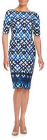 Eliza J Geometric Sheath Dress