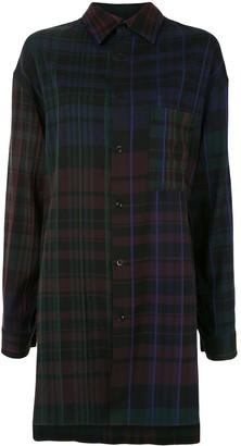 Y's Long-Line Check Shirt
