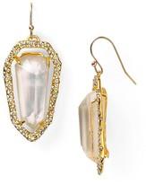 Alexis Bittar Bel Air Gold Elongated Shield Earrings