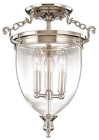 Hudson Valley Lighting Valley Hanover Polished Nickel Ceiling Light