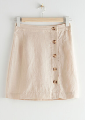 And other stories Front Button Mini Skirt