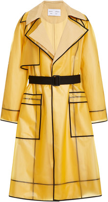 Proenza Schouler White Label Belted PVC Trench Coat