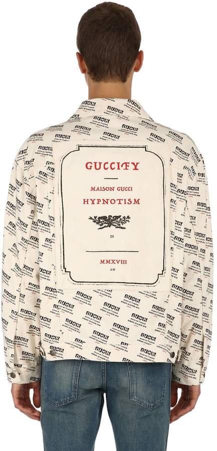 Gucci Oversized Logo Cotton Denim Jacket
