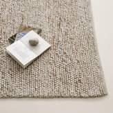 west elm Mini Pebble Wool Jute Rug - Natural/Ivory