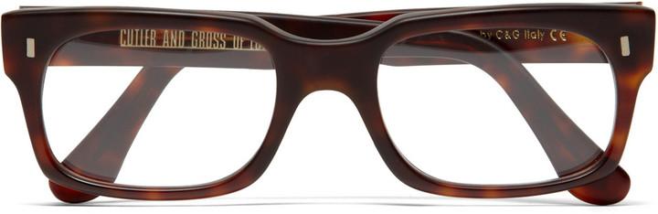 Cutler and Gross Square Framed Tortoiseshell Optical Glasses