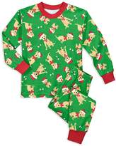Sara's Prints Unisex Dog in Santa Hat Holiday Pajama Set - Little Kid