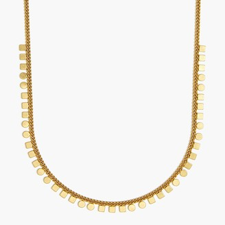 J.Crew Circle square charm necklace