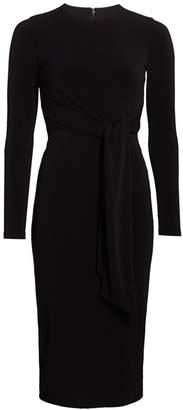 Alice + Olivia Delora Tie-Waist Sheath Dress