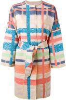 Tsumori Chisato plaid belted coat