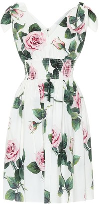 Dolce & Gabbana Floral cotton dress
