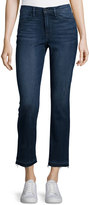 Frame Le High Straight-Leg Cropped Jeans w/Released Hem, Delancey