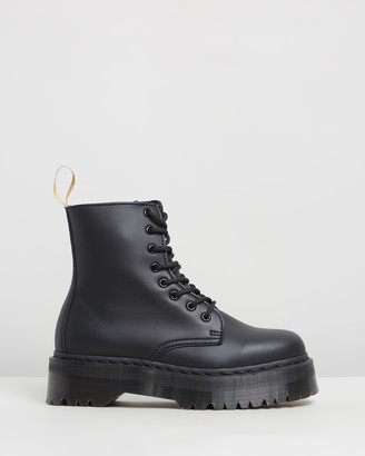 Dr. Martens Women's Black Lace-up Boots - Womens Vegan Jadon II Mono Platform Boots - Size 10 at The Iconic
