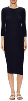 James Perse Ribbed Cotton Terry Sheath Dress