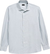 Ermenegildo Zegna Classic Fit Stripe Button-Up Shirt
