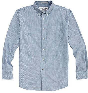 Nautica Jeans Long-Sleeve Striped Poplin Sportshirt