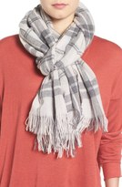 Eileen Fisher Soft Wool & Cashmere Plaid Scarf
