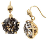 Betsey Johnson Skeletons After Dark Black Skull Drop Earrings
