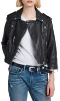 AllSaints Lara Sheepskin Leather Biker Jacket